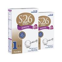 【2罐装】S-26 优质婴幼儿1段配方奶粉 (0-6个月) 6*17g/袋