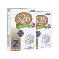 【2罐装】S-26 优质婴幼儿2段配方奶粉 (6个月+) 4*26g/袋