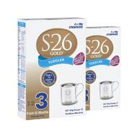 【2罐装】S-26 优质婴幼儿3段配方奶粉 (12个月+) 4*30g/袋