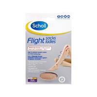 Scholl 爽健 飞行袜 1双(防静脉曲张/外出型/中码6-8/女士/米色)