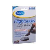 Scholl 爽健 飞行袜 1双(防静脉曲张/外出型/4-6码/女士/黑色/柔滑型)