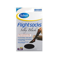 Scholl 爽健 飞行袜 1双(防静脉曲张/外出型/8-10码女士/黑色/柔滑型)