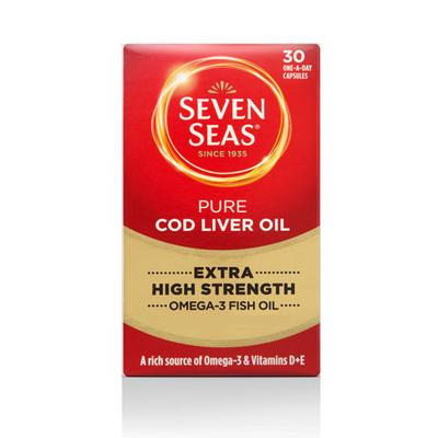 Seven Seas 七海 纯正鱼肝油胶囊 30粒(超强型)