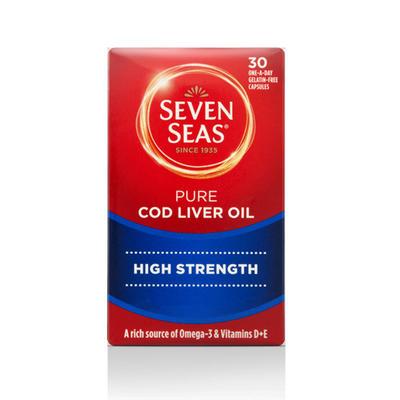Seven Seas 七海 纯正鱼肝油胶囊 30粒(加强型)