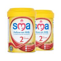 【2罐装】SMA 英国惠氏 金装婴幼儿配方奶粉2段(6m+) 900g