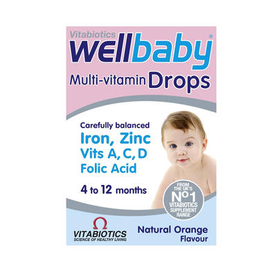 Vitabiotics Wellkid 婴儿营养滴剂(含14种维生素+锌+铁)30ml