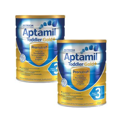 【2件包邮装】Aptamil 爱他美 金装版 婴幼儿3段奶粉 2*900g/罐