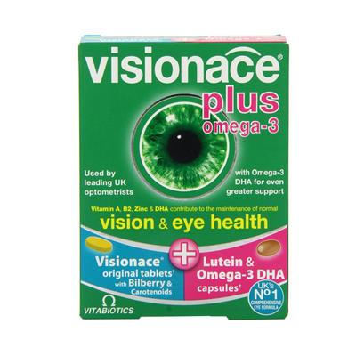 Vitabiotics Visionace 护眼复合营养片+深海鱼油胶囊 28片+28粒
