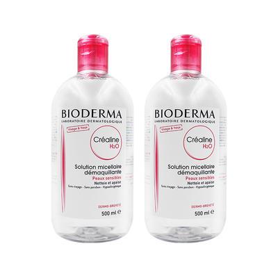 【2件包邮装】Bioderma 贝德玛 粉水深层卸妆洁肤水 2*500ml/瓶