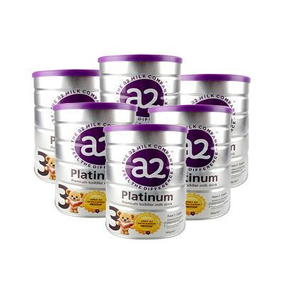 【6件包邮装】A2 白金系列 婴幼儿配方奶粉 3段 6*900g/罐