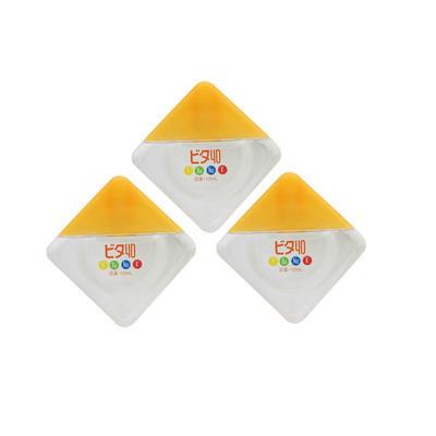 【3件包邮装】ROHTO 乐敦 40α维生素氨基酸眼药水/滴眼液 3*12ml/瓶(黄色-营养型)