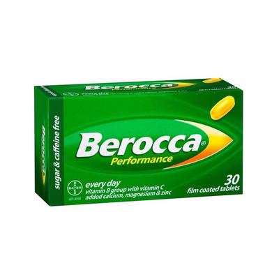 Berocca 拜维佳 维生素B+C+钙镁锌薄膜衣片(香橙味) 30片