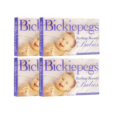 【4件包邮装】Bickiepegs 天然谷物宝宝磨牙棒 4*38g(6个月以上)