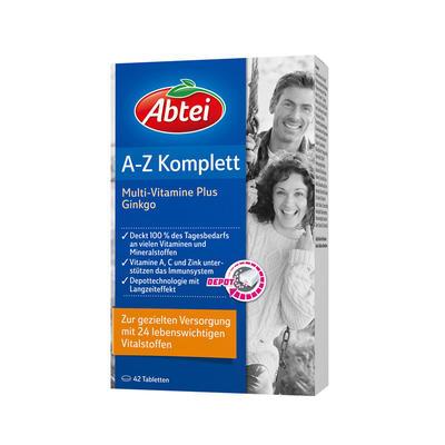 Abtei A-Z 复合维生素+银杏营养片 42粒