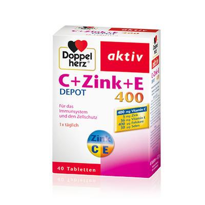 Doppelherz 双心 维生素C+锌+维生素E营养片 40片