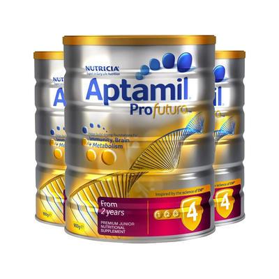 【3件包邮装】Aptamil 爱他美 白金版4段 婴幼儿配方奶粉 3*900g/罐(适合2岁以上宝宝)