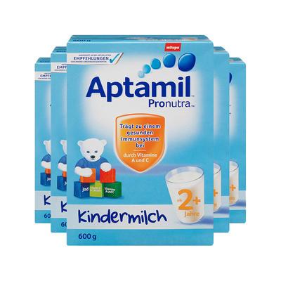【5件包邮装】Aptamil 爱他美 婴儿成长奶粉 2+段 5*600g/盒(适合2岁以上宝宝)