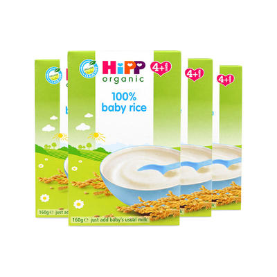 【4件包邮装】Hipp 喜宝 有机宝宝米糊 4*160g/盒(适合4个月以上的宝宝)
