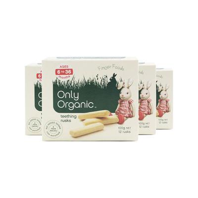 【4件包邮装】Only Organic 宝宝磨牙棒手指饼干 4*100g/袋 (适合6个月以上的宝宝)