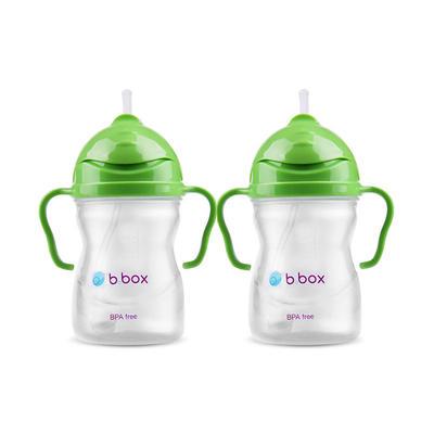 【2件包邮装】B.box 婴幼儿重力球吸管杯 防漏 240ml 苹果绿 (6个月以上)