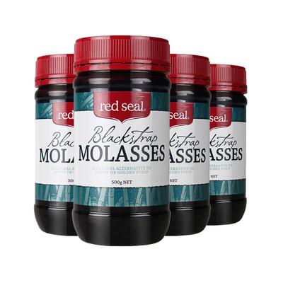 【4件包邮装】Red Seal 红印 黑糖 4*500g/瓶(舒缓痛经/补铁调经)