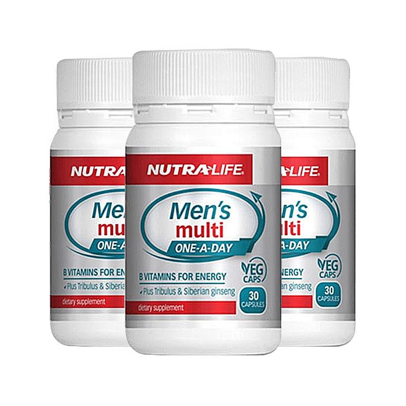 NUTRA LIFE 纽乐 男士复合维生素 30粒*3瓶