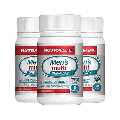 【3件包邮装】Nutralife 纽乐  男士复合维生素 3*30粒/瓶