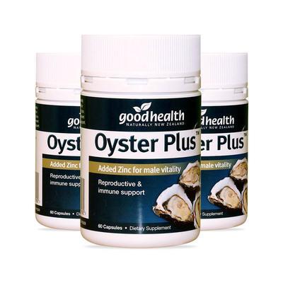 【3件包邮装】Goodhealth 好健康 350mg 牡蛎精胶囊 3*60粒/瓶(增强男性能力/补锌补肾)