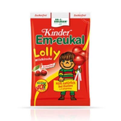 Kinder Em Eukal 儿童野樱桃无糖棒棒糖 80g