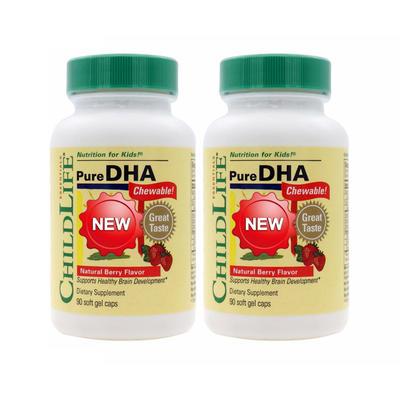 【2件包邮装】Childlife 婴幼儿精纯DHA软胶囊 2*90粒/瓶