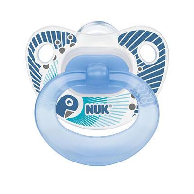 NUK 快乐时光系列 1段硅胶安抚奶嘴 2个 蓝色(适合0-6个月的宝宝)