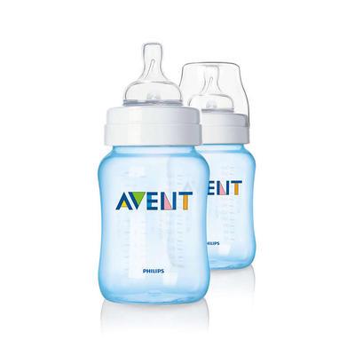 Philips AVENT 新安怡经典系列 宽口径奶瓶 260ml/9oz 两支装 蓝色