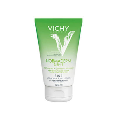 Vichy 薇姿 净颜无瑕清洁磨砂面膜三合一泡沫洁面乳 125ml